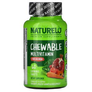 NATURELO, Chewable Multivitamin for Children, 60 Chewable Tablets отзывы покупателей