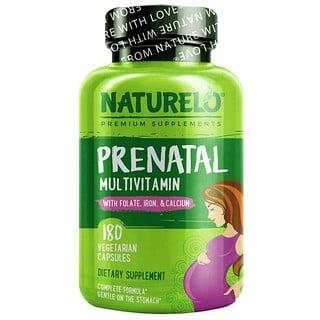 NATURELO, Prenatal Multivitamin, 180 Vegetarian Capsules