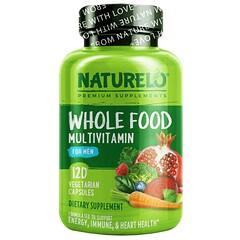 NATURELO, 男性全食多維生素,120 粒素食膠囊