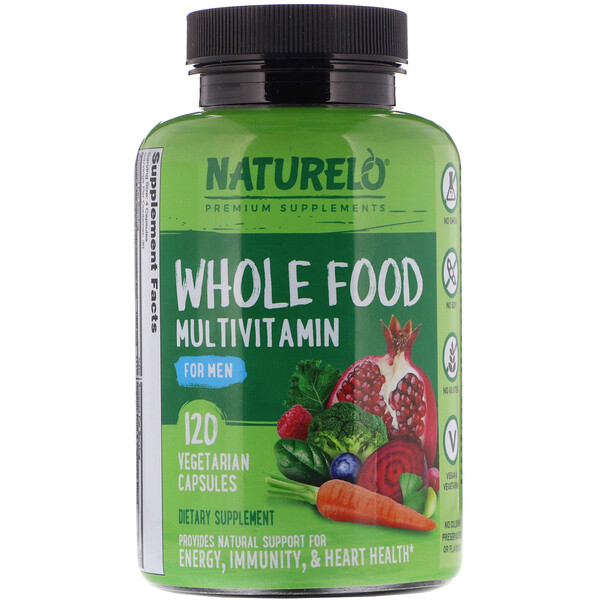 Whole Food Multivitamin for Men, 120 Vegetarian Capsules