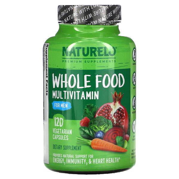 NATURELO, فيتامينات الغذاء الكامل المتعددة للرجال، 120 كبسولة نباتية