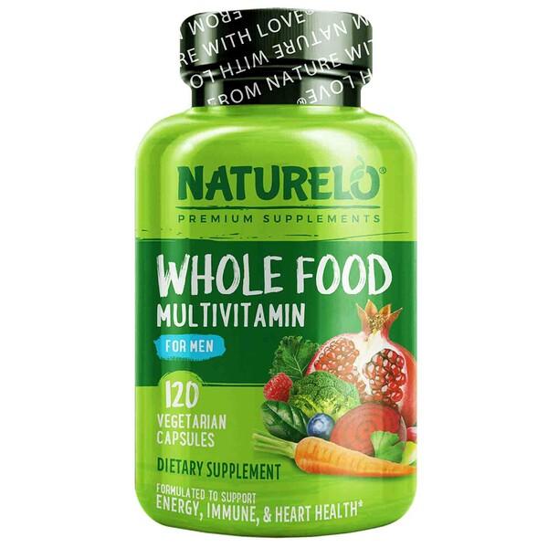 Suplemento multivitamínico a base de alimentos integrales para hombres, 120cápsulas vegetales