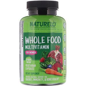 NATURELO, Whole Food Multivitamin for Women, 120 Vegetarian Capsules