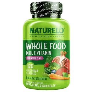 NATURELO, Whole Food Multivitamin for Women 50+, 120 Vegetarian Capsules