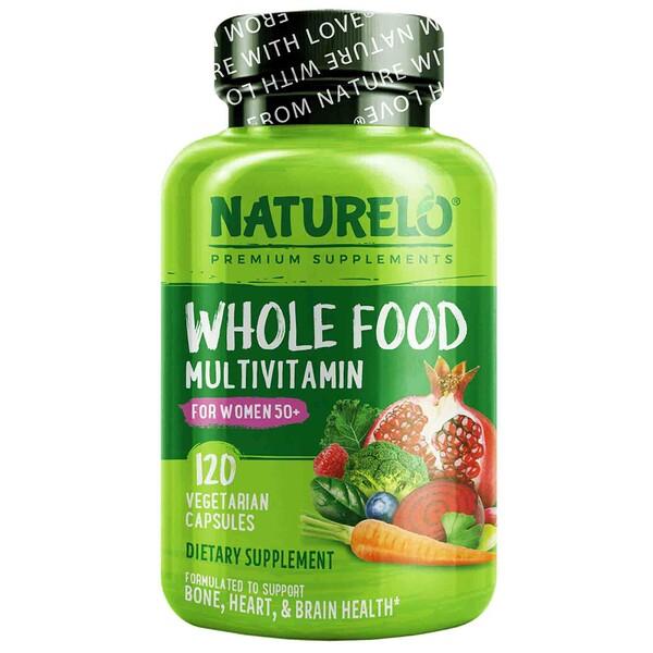 NATURELO, فيتامينات الغذاء الكامل المتعددة للنساء أكبر من سن 50، 120 كبسولة نباتية