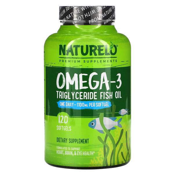 Omega-3 Triglyceride Fish Oil, 1,100 mg, 120 Softgels