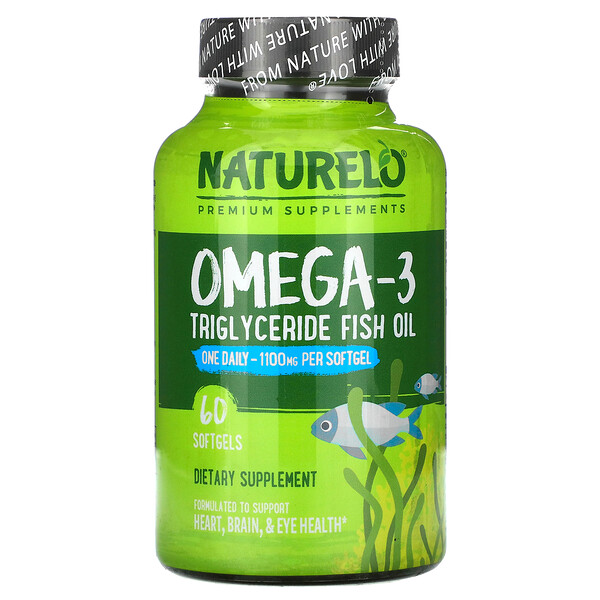 Omega-3, Triglyceride Fish Oil, 1,100 mg, 60 Softgels