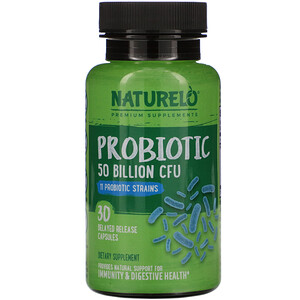 NATURELO, Probiotic, 50 Billion CFU, 30 Delayed Release Capsules