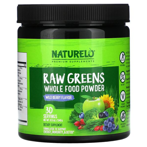 Raw Greens, Whole Food Powder, Wild Berry, 8.5 oz (240 g)