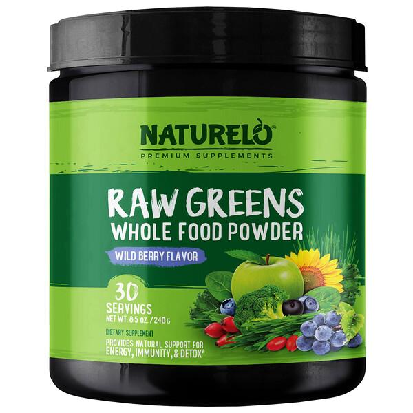 Raw Greens, Whole Food Powder, Wild Berry Flavor, 8.5 oz (240 g)