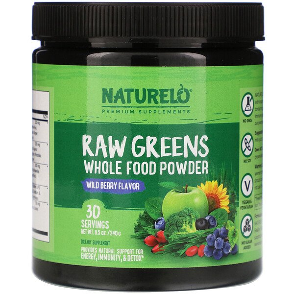 Raw Greens, Whole Food Powder, Wild Berry Flavor, 8.5 oz (240 g)