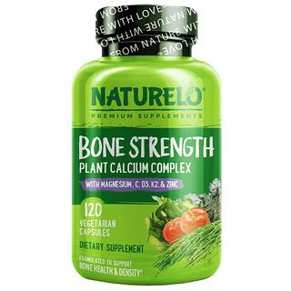 NATURELO, 骨骼強度,植物基鈣複合物,120 粒素食膠囊