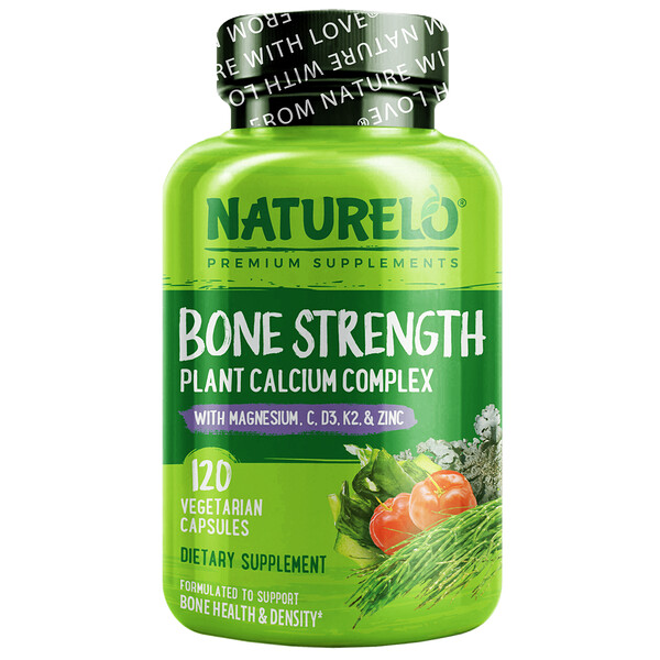 Bone Strength, Plant-Based Calcium Complex, 120 Vegetarian Capsules