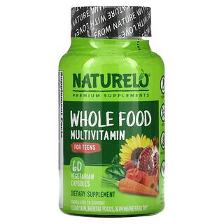 NATURELO, Whole Food Multivitamin for Teens, 60 Vegetarian Capsules