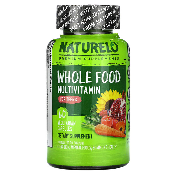 Whole Food Multivitamin for Teens, 60 Vegetarian Capsules
