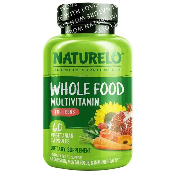NATURELO, 青少年專用全食物複合維生素,60 粒素食膠囊