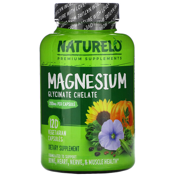 Magnesium Glycinate Chelate, 200 mg, 120 Vegetarian Capsules