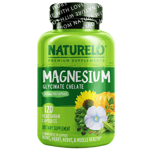 Magnesium Glycinate Chelate, 200 mg, 120 Vegetarian Capsules