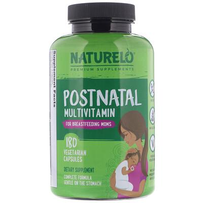 Купить NATURELO мультивитамины для послеродового периода для кормящих мам, 180вегетарианских капсул