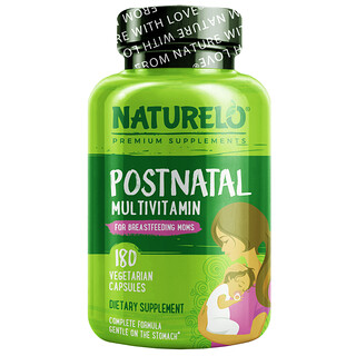 NATURELO, Postnatal Multivitamin for Breastfeeding Moms, 180 Vegetarian Capsules