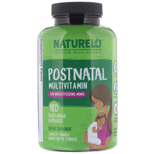 Postnatal Multivitamin for Breastfeeding Moms, 180 Vegetarian Capsules