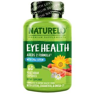 NATURELO, Eye Health Areds 2 Formula, 60 Vegetarian Capsules