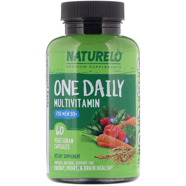 NATURELO, One Daily Multivitamin for Men 50+, 60 Vegetarian Capsules