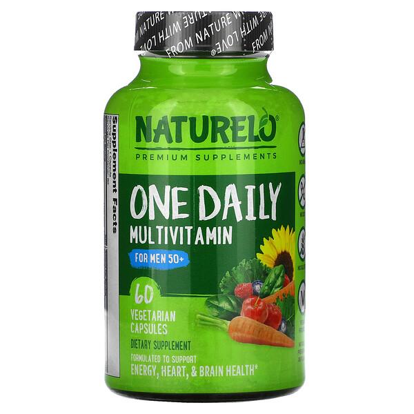 NATURELO, One Daily Multivitamin for Men 50+, 60 Vegetarian Capsules