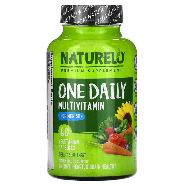 فيتامينات متعددة من One Daily للرجال بعمر أكبر من 50 عامًا، 60 كبسولة نباتية
