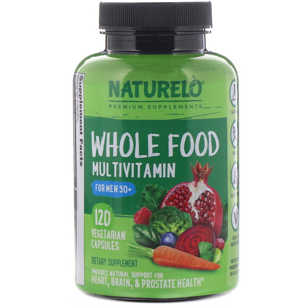 NATURELO, Whole Food Multivitamin for Men 50+,  120 Vegetarian Capsules