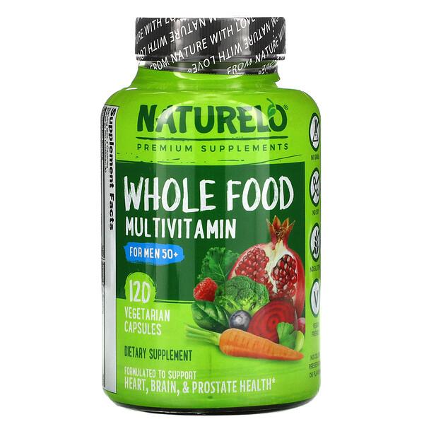 Whole Food Multivitamin for Men 50+,  120 Vegetarian Capsules