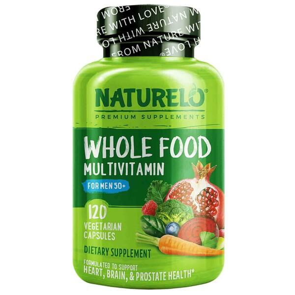 NATURELO, 50+ 男性專用全食多維生素素食膠囊,120 粒
