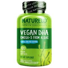 NATURELO, 素食 DHA,海藻中提取的歐米伽-3,400 毫克,120 粒全素膠囊