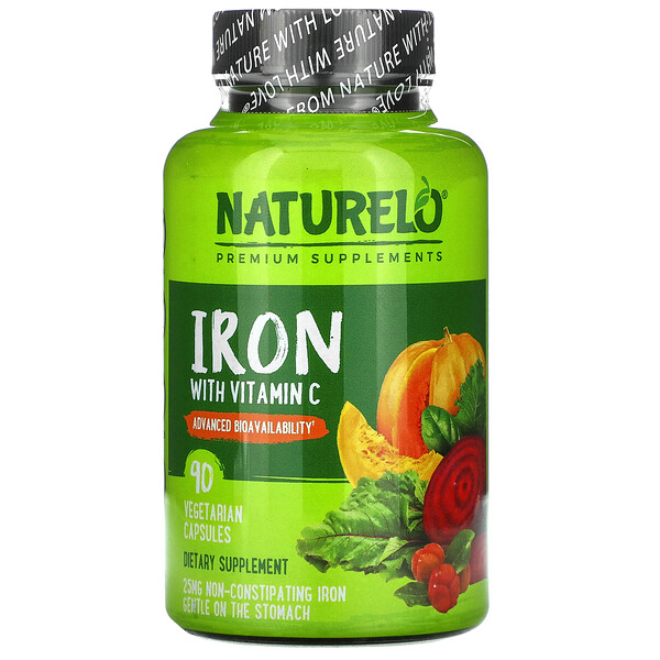 Iron with Vitamin C, 90 Vegetarian Capsules