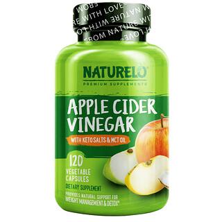 NATURELO, яблочный уксус с кето-солями и маслом MCT, 120 вегетарианских капсул