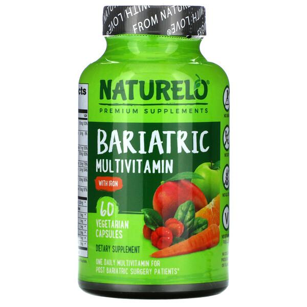 NATURELO, Bariatric Multivitamin with Iron, 60 Vegetarian Capsules