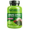 NATURELO, Immune Support with Elderberry, Vitamin C & Zinc plus Echinacea, 60 Vegetarian Capsules