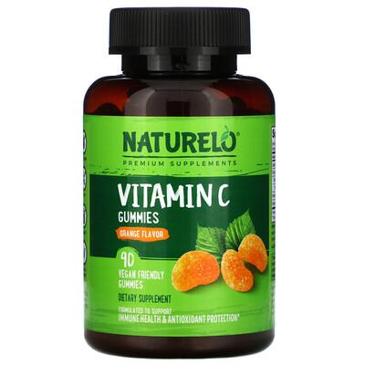NATURELO Vitamin C Gummies, Orange Flavor, 90 Vegan Gummies  - Купить