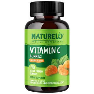 NATURELO, Vitamin C Gummies, Orange, 90 Vegan Gummies