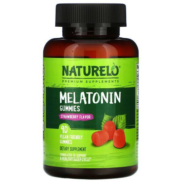 Melatonin Gummies, Strawberry Flavor, 90 Vegan Friendly Gummies