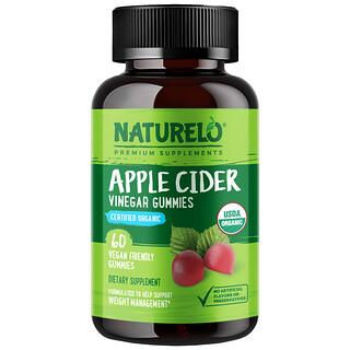 NATURELO, Apple Cider Vinegar Gummies, 60 Vegan Friendly Gummies