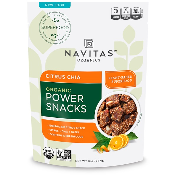 Navitas Organics, Organic Power Snacks, Citrus Chia, 8 oz (227 g) (Discontinued Item)