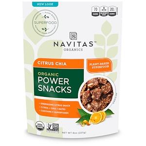 Навитас Органикс, Organic Power Snacks, Citrus Chia, 8 oz (227 g) отзывы покупателей