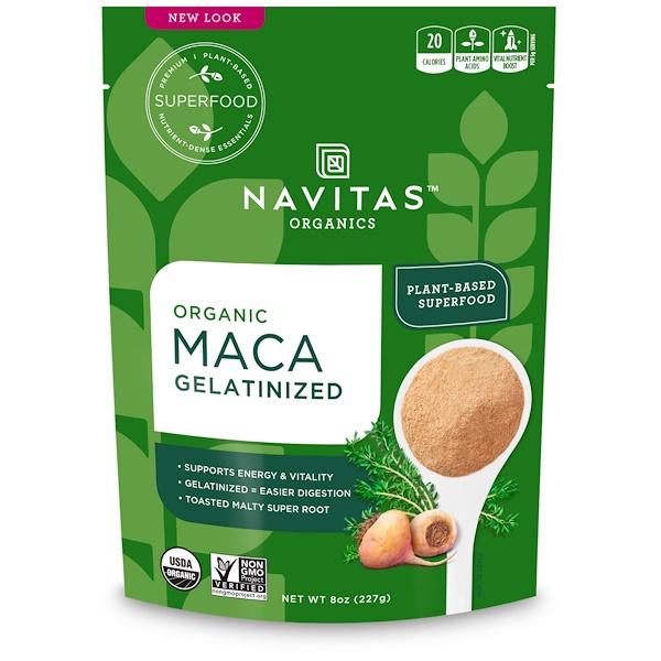 Navitas Organics, ماكا العضوي الجيلاتيني، 8 أوقية (227 غرام) (Discontinued Item)