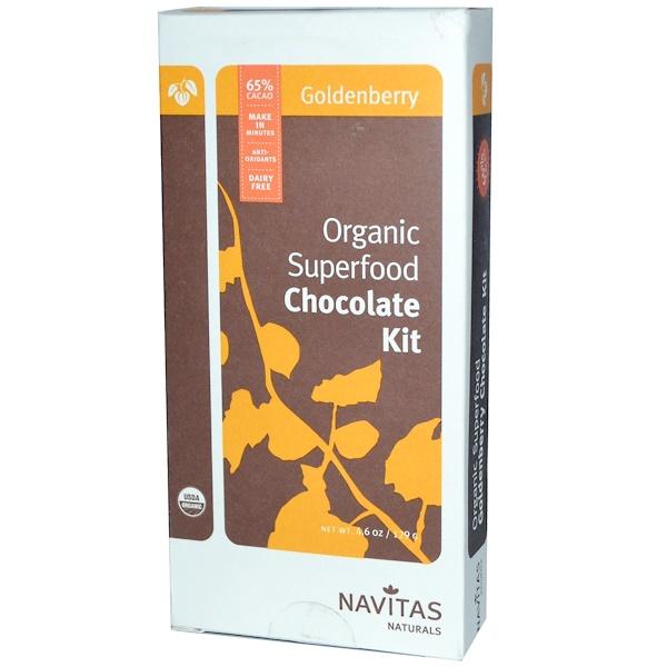 Navitas Organics, Organic Superfood Chocolate Kit, Goldenberry, 4.6 oz (129 g) (Discontinued Item)
