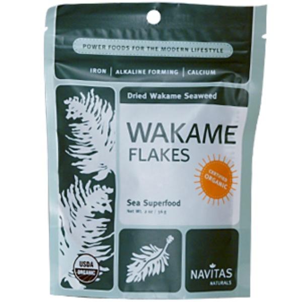 Navitas Organics, Wakame Flakes, Dried Wakame Seaweed, 2 oz (56 g) (Discontinued Item)