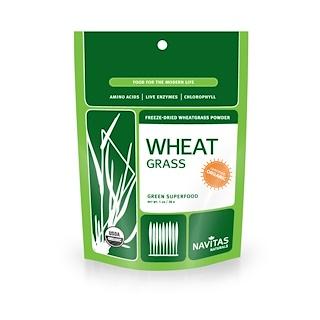 Navitas Organics, Organic Wheatgrass Juice Powder, 1 oz (28 g)
