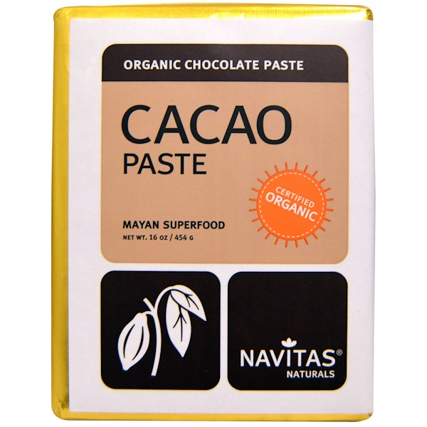 Navitas Organics, Cacao Paste, Organic Chocolate Paste, 16 oz (454 g) (Discontinued Item)