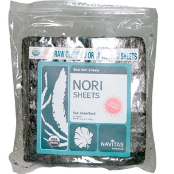 Navitas Organics, Raw Certified Organic Nori Sheets, 50 Sheets, 4.4 oz (125 g) (Discontinued Item)