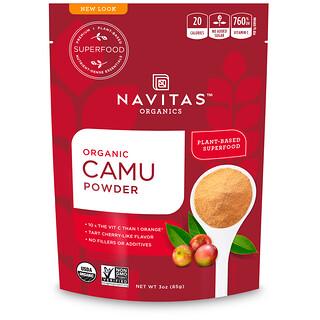 Navitas Organics, オーガニック、カミュパウダー、3オンス(85g)
